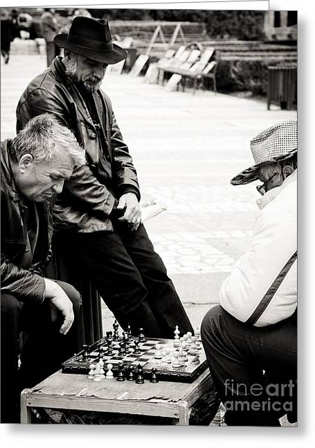 Chess Players Greeting Cards - The final match Greeting Card by Gabriela Insuratelu