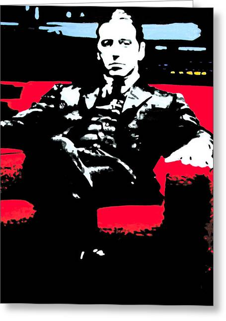 Best Sellers -  - Award Greeting Cards - The Godfather Greeting Card by Luis Ludzska