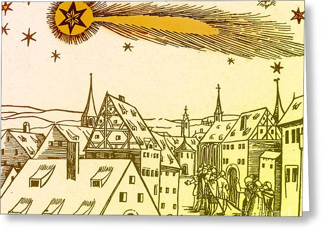 Bad Drawing Greeting Cards - The Great Comet Of 1556 Greeting Card by Science Source