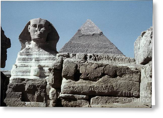 4th Greeting Cards - The Great Sphinx Greeting Card by Granger