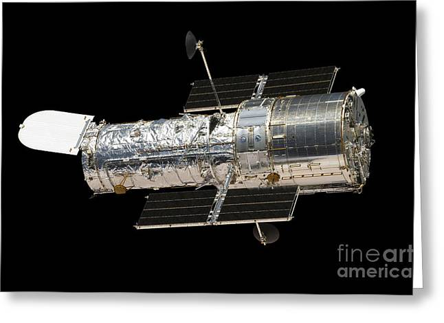 Hubble Space Telescope Views Greeting Cards - The Hubble Space Telescope Greeting Card by Stocktrek Images
