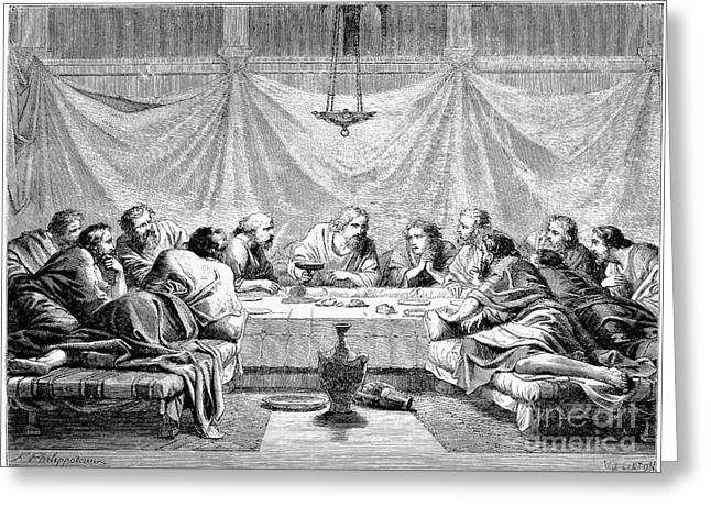Last Supper Greeting Cards - The Last Supper Greeting Card by Granger