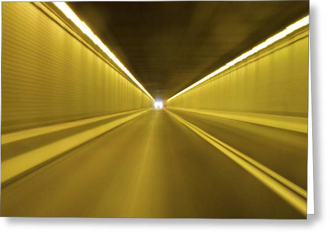 Yellow Line Greeting Cards - The Light Greeting Card by Julie Niemela