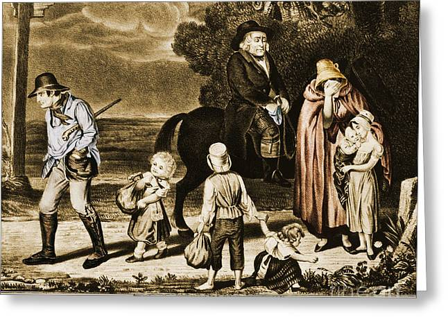 Political Cartoon Greeting Cards - The Progress Of Intemperance - The Greeting Card by Photo Researchers