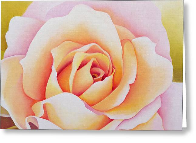 Roses Paintings Greeting Cards - The Rose Greeting Card by Myung-Bo Sim