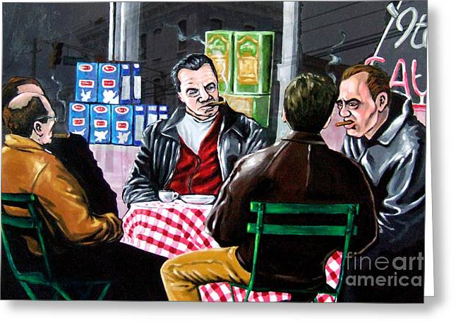 Goodfellas Greeting Cards - The Sit Down Greeting Card by D Rt
