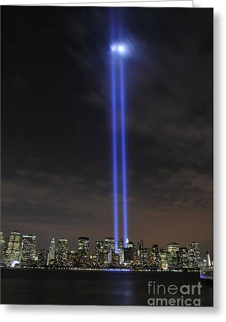 Tower Of Light Greeting Cards - The Tribute In Light Memorial Greeting Card by Stocktrek Images