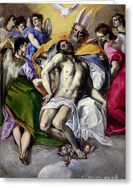 The Church Greeting Cards - The Trinity Greeting Card by El Greco