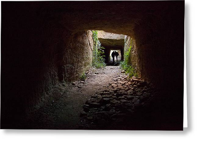Languedoc Greeting Cards - The Tunnels That The Water Greeting Card by Taylor S. Kennedy