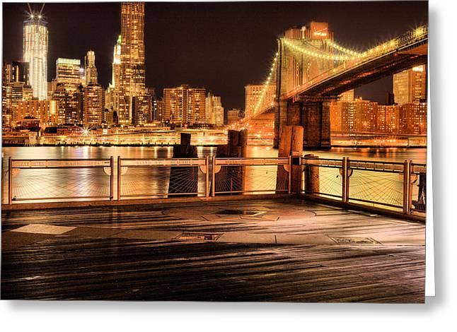 The City That Never Sleeps Greeting Cards - The View Greeting Card by JC Findley