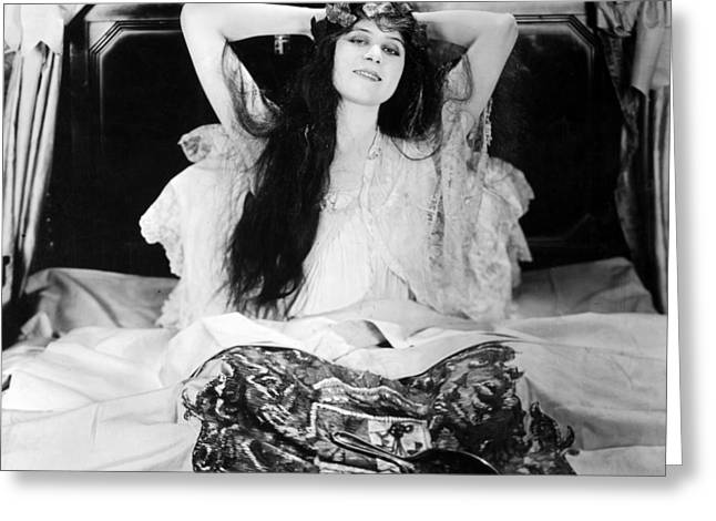 Ambition Greeting Cards - Theda Bara (1885-1955) Greeting Card by Granger