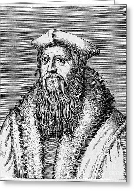 Reformer Greeting Cards - Thomas Cranmer (1489-1556) Greeting Card by Granger