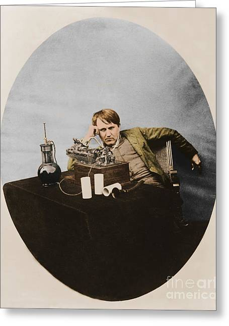 Invention Of Motion Pictures Greeting Cards - Thomas Edison, American Inventor Greeting Card by U.S. Department of the Interior