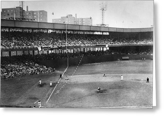 Brooklyn Dodgers Stadium Greeting Cards - Thomson Home Run, 1951 Greeting Card by Granger