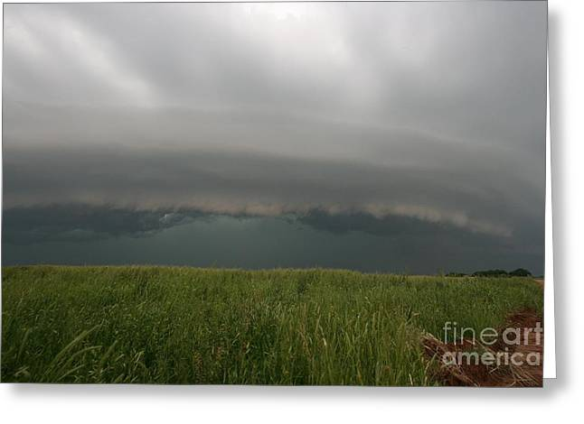 Enid Greeting Cards - Thunderstorm And Supercell Greeting Card by Science Source