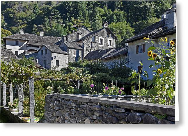 Village Views Greeting Cards - Ticino Greeting Card by Joana Kruse