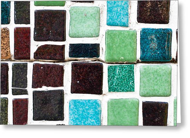 Art Glass Mosaic Greeting Cards - Tiles Greeting Card by Tom Gowanlock