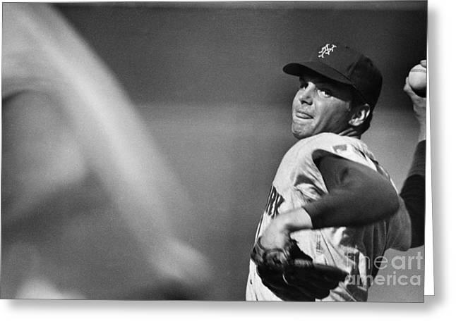 Baltimore Orioles Stadium Greeting Cards - Tom Seaver (1944- ) Greeting Card by Granger