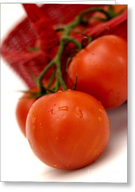 Tomatoes Greeting Card by Bernard Jaubert