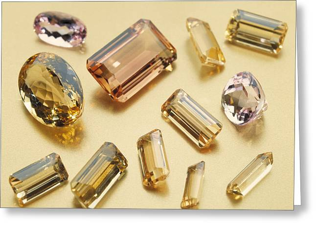 Topaz Greeting Cards - Topaz Gemstones Greeting Card by Lawrence Lawry
