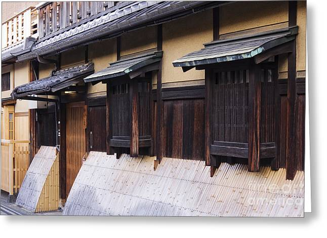Bamboo House Photographs Greeting Cards - Traditional Japanese House Greeting Card by Jeremy Woodhouse