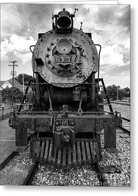 Miguel Greeting Cards - Train Greeting Card by Miguel Celis
