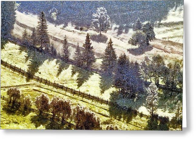 New_year Greeting Cards - Transylvania landscape Greeting Card by Odon Czintos