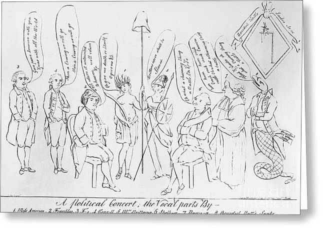 Political Allegory Greeting Cards - `treaty Of Paris, 1783 Greeting Card by Granger