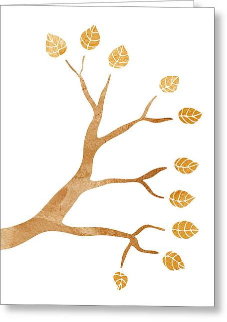 Tree Branch Greeting Card by Frank Tschakert