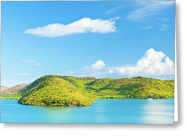 Panoramic Ocean Greeting Cards - Tropical lagoon Greeting Card by MotHaiBaPhoto Prints