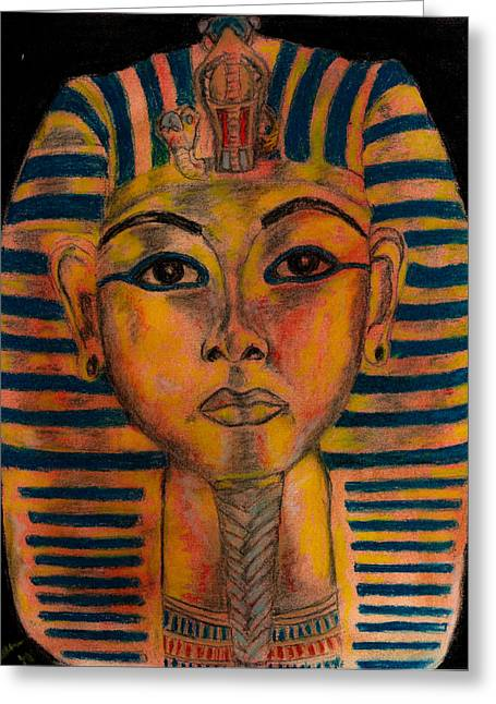 Pharaoh Pastels Greeting Cards - Tut Greeting Card by Ashley Henry