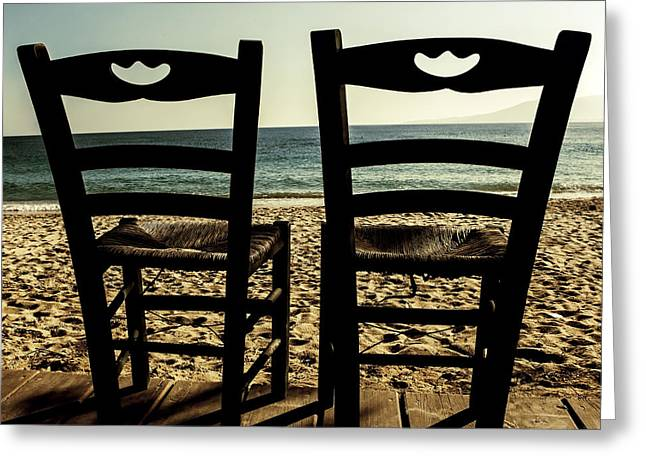 Chairs Greeting Cards - Two Chairs Greeting Card by Joana Kruse