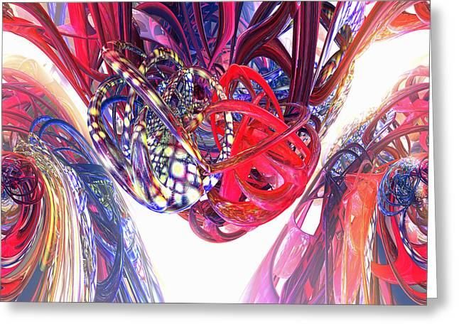 Abstract Style Greeting Cards - Two Hearts Beat as One Fx  Greeting Card by G Adam Orosco