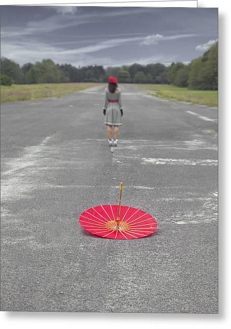 Umbrella Greeting Cards - Umbrella Greeting Card by Joana Kruse