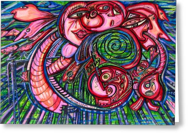 Shades Of Red Greeting Cards - Untitled Greeting Card by Anthony Masterjoseph