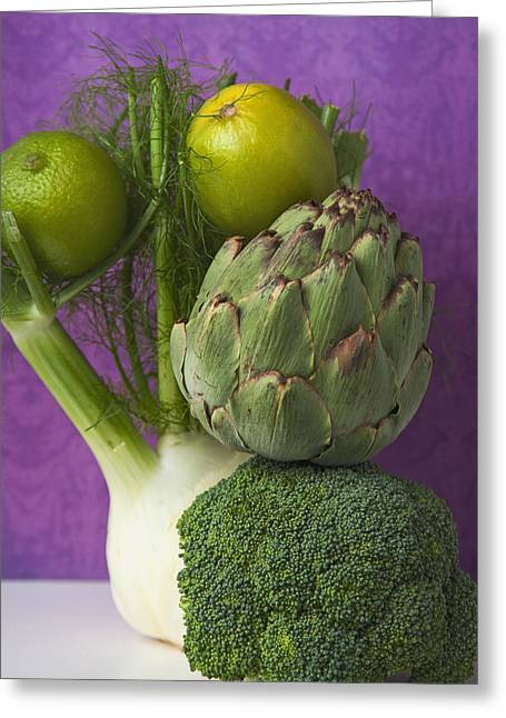 Broccoli Greeting Cards - Untitled Greeting Card by Marlene Ford