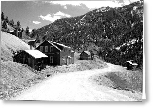 Mountain Road Greeting Cards - Ute-Ulay Mine Greeting Card by Max Mullins
