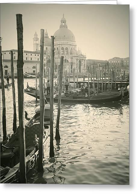 Surreal Church Greeting Cards - Venezia Greeting Card by Joana Kruse