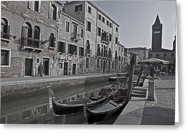Peaceful Scene Photographs Greeting Cards - Venice - Italy Greeting Card by Joana Kruse
