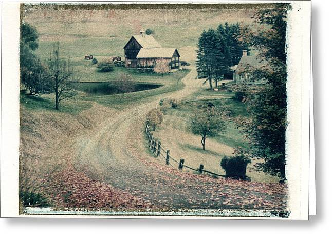 Polaroid Transfer Greeting Cards - Vermont Farm Greeting Card by Joe  Palermo