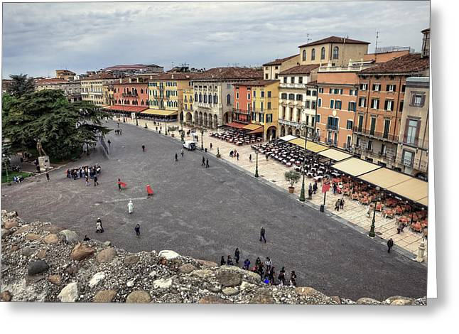 Historically Greeting Cards - Verona Greeting Card by Joana Kruse