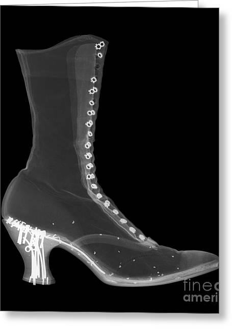 Black Boots Greeting Cards - Victorian Ladies Boot Greeting Card by Ted Kinsman