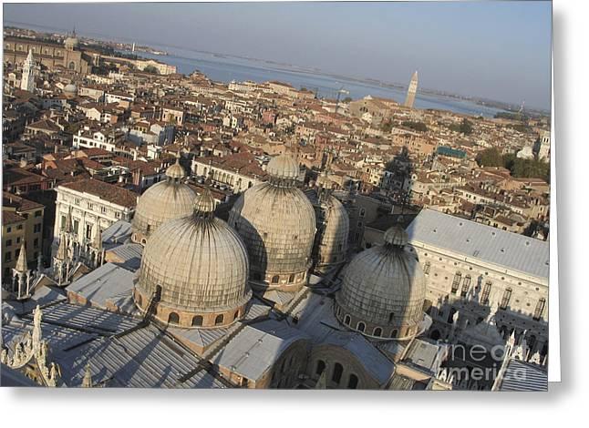 Basilique Saint-marc Greeting Cards - View of Venice Greeting Card by Bernard Jaubert