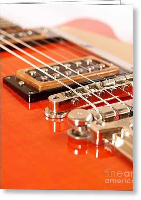 Vintage Guitar Greeting Card by Andreas Berheide