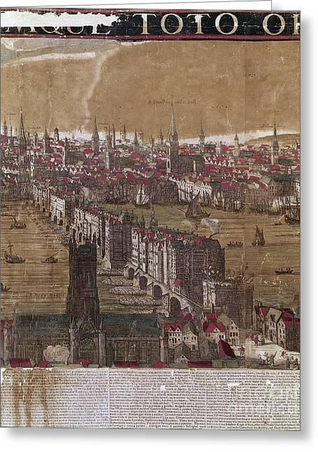 River View Greeting Cards - Visscher: London, 1650 Greeting Card by Granger