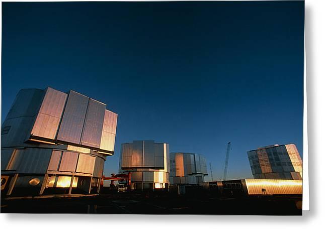 Quartet Greeting Cards - Vlt Telescopes Greeting Card by David Nunuk