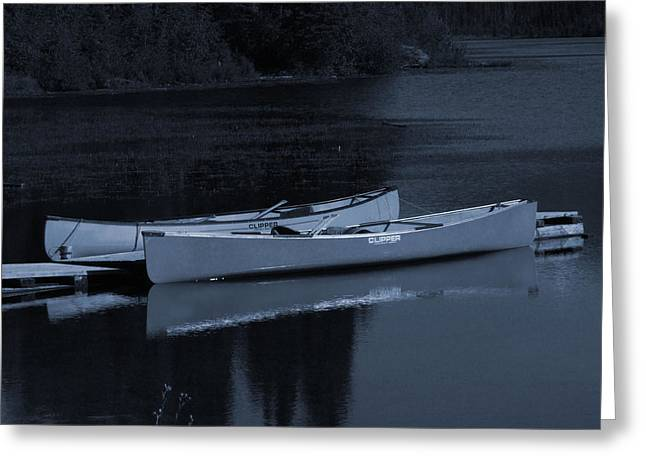 Canoe Greeting Cards - Waiting Greeting Card by Andrea Arnold