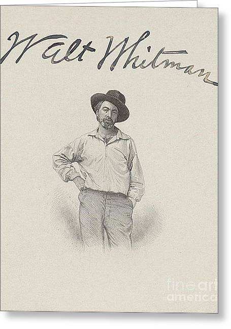 Leaves Of Grass Greeting Cards - Walt Whitman, American Poet Greeting Card by Photo Researchers
