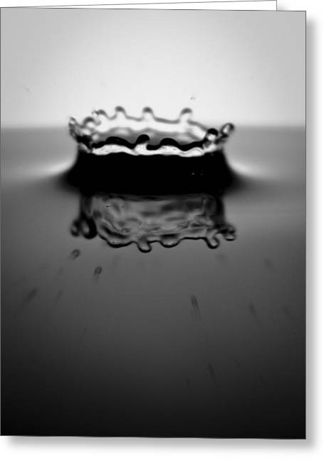Water Droplets Greeting Cards - Water Droplet Crown Greeting Card by Dustin K Ryan