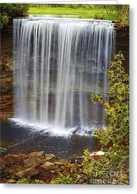 Water Flowing Greeting Cards - Waterfall Greeting Card by Elena Elisseeva